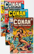 Bronze Age (1970-1979):Adventure, Conan the Barbarian #1-3 Group (Marvel, 1970) Condition: Average VF-.... (Total: 3 Comic Books)