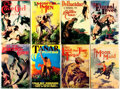 Books:Science Fiction & Fantasy, Edgar Rice Burroughs. Group of Eight Reprint Edition BurroughsTitles. New York: Grosset & Dunlap, various dates. ... (Total:8 Items)