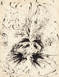 Impressionism & Modernism:Surrealism, Salvador Dalí (1904-1989). Portrait, 1958. Brush and Indiaink on paper. 38-1/4 x 29-1/4 inches (97.2 x 74.3 cm) (sight)...