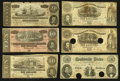 Confederate Notes:Group Lots, Group of Nine Confederate Treasury Notes 1861-1864.. ... (Total: 9notes)