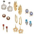 Estate Jewelry:Lots, Lot of Multi-Stone, Cultured Pearl, Diamond, Gold Jewelry. ...