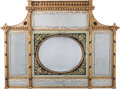 Paintings, A George III Giltwood and Eglomisé Overmantel Mirror, early 19th century. 44-1/2 inches high x 58-1/2 inches wide (113.0 x 1...