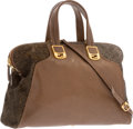"Luxury Accessories:Bags, Fendi Brown Leather & Ponyhair Chameleon Bag. Good Condition.16"" Width x 10"" Height x 7.5"" Depth. ..."