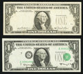Error Notes:Error Group Lots, Fr. 1901-G $1 1963A Federal Reserve Note. Choice CrispUncirculated;. Fr. 1911-F $1 1981 Federal Reserve Note. VeryFine.... (Total: 2 notes)
