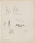Original Comic Art:Sketches, Frank Frazetta - Anatomy Sketch Original Art (undated)....