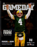Football Collectibles:Programs, 2015 Green Bay Packers Vs. Chicago Bears Thanksgiving Day Program - Brett Favre Jersey Retirement. ...