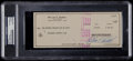 Basketball Collectibles:Others, 1978 Bill Russell Signed Check....