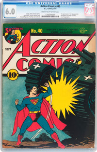 Action Comics #40 (DC, 1941) CGC FN 6.0 Cream to off-white pages