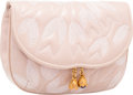"Luxury Accessories:Accessories, Judith Leiber Pink Leather & Floral Embroidered Clutch Bag withGold Hardware. Good to Very Good Condition. 6"" Widthx..."
