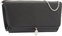 """Judith Leiber Gray Satin Evening Bag Very Good to Excellent Condition 6.5"""" Width x 4"""" Height x 2"""""""