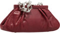 "Luxury Accessories:Bags, Judith Leiber Red Lizard Evening Bag. Excellent Condition.7.5"" Width x 3"" Height x 2"" Depth. ..."