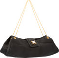 "Luxury Accessories:Bags, Judith Leiber Black Satin Evening Bag. Excellent Condition.10"" Width x 5"" Height x 2"" Depth. ..."