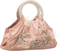 "Luxury Accessories:Bags, Judith Leiber Embellished Mauve Satin Evening Bag. Very GoodCondition. 9"" Width x 5"" Height x 4"" Depth. ..."