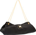 "Luxury Accessories:Bags, Judith Leiber Black Satin Evening Bag. Excellent Condition.10"" Width x 4.5"" Height x 1.5"" Depth. ..."