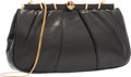 "Luxury Accessories:Bags, Judith Leiber Black Leather Evening Bag. Very GoodCondition. 9"" Width x 5"" Height x 1"" Depth. ..."