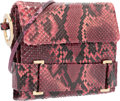 "Luxury Accessories:Bags, Judith Leiber Pink Python Evening Bag. Very Good Condition. 6.5"" Width x 5.5"" Height x 1.5"" Depth. ..."