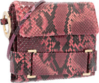 "Judith Leiber Pink Python Evening Bag Very Good Condition 6.5"" Width x 5.5"" Height x 1.5"" Depth</..."
