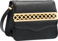"Luxury Accessories:Accessories, Judith Leiber Black Karung Shoulder Bag with Gold Hardware.Excellent Condition. 7"" Width x 5.5"" Height 2.5""Width. ..."