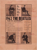 Music Memorabilia:Autographs and Signed Items, Beatles Signed Vintage 1962 Year of Achievement Poster Reprinted from Mersey Beat (Liverpool, December...