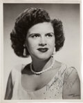 Music Memorabilia:Autographs and Signed Items, Patsy Cline Signed Black and White Promotional Photo (1950s)....