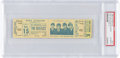 Music Memorabilia:Tickets, Beatles Unused New York Shea Stadium Concert Ticket in PSA Slab(1965). ...