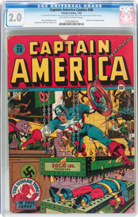 Captain America Comics #28 (Timely, 1943) CGC GD 2.0 Off-white to white pages