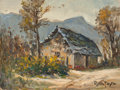 Fine Art - Painting, American:Modern  (1900 1949)  , Rolla Sims Taylor (American, 1872-1970). Mountain Hut, LaCercada, Mexico. Oil on canvasboard. 9 x 12 inches (22.9 x30....