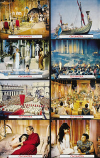 "Cleopatra (20th Century Fox, 1963). Road Show Lobby Card Set of 9 (11"" X 14""). Elizabeth Taylor, the Queen of..."