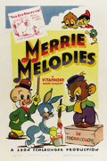 "Movie Posters:Animated, Merrie Melodies (Warner Brothers, 1940). One Sheet (27"" X 41"").Very nice stock one sheet for the 1940-41 releases of Warner..."