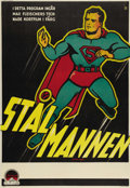 "Movie Posters:Animated, Superman Cartoon Stock (Paramount, 1940's) Swedish One Sheet (27"" X37.5""). Cool stock 1 sheet for Swedish release of the Fl..."