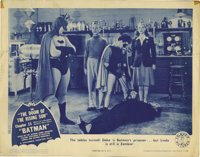 "The Batman (Columbia, 1943). Lobby Card (11"" X 14""). Not only was this the original screen incarnation of the..."