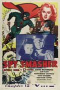 "Movie Posters:Serial, Spy Smasher-Chapter 12 ""V..._"" (Republic, 1942). One Sheet (27"" X41""). This serial stars Kane Richmond (The Phantom, The Ti..."