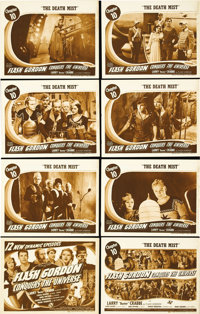 """Flash Gordon Conquers the Universe (Universal, 1940). Lobby Card Set of 8 (11"""" X 14""""). Buster Crabbe and Carol..."""