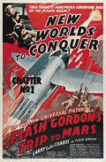 "Movie Posters:Serial, Flash Gordon's Trip to Mars (Universal, 1938). One Sheet (27"" X41""). Flash Gordon (Buster Crabbe), Dale Arden (Jean Rogers)..."