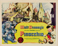 "Movie Posters:Animated, Pinocchio (RKO, 1940). Half Sheet (22"" X 28""). Walt Disney'sclassic story of a little puppet that wants to be a real boy. W..."