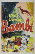 "Movie Posters:Animated, Bambi (RKO, R-1948). One Sheet (27"" X 41""). The original one sheet, and for that matter most of the posters, from the first ..."