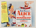 "Movie Posters:Animated, Alice in Wonderland (RKO, 1951). Half Sheet (22"" X 28"") Style A. Walt Disney's adaptation of Lewis Carroll's surreal and cla..."