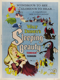 """Sleeping Beauty (Buena Vista, 1959). Poster (30"""" X 40""""). Disney's stylized telling of this classic Grimm's fai..."""