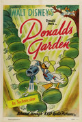 "Movie Posters:Animated, Donald's Garden (RKO, 1942). One Sheet (27"" X 41""). There's nodoubt that this cartoon was issued in World War II as Walt Di..."