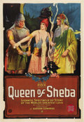 "Movie Posters:Adventure, The Queen of Sheba (Fox, 1921). One Sheet (27"" X 41""). This was oneof the truly great biblical epics made in the early 1920..."