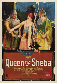 """The Queen of Sheba (Fox, 1921). One Sheet (27"""" X 41""""). This was one of the truly great biblical epics made in..."""