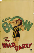 """Movie Posters:Comedy, The Wild Party (Paramount, 1929). Window Card (14"""" X 22""""). ClaraBow, as the quintessential party girl of the 20's, falls fo..."""