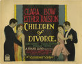 "Movie Posters:Romance, Children of Divorce (Paramount, 1927). Title Lobby Card (11"" X14""). Silent Clara Bow film about a flapper who tricks a youn..."
