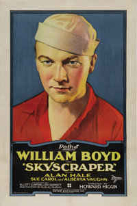 "Skyscraper (Pathe, 1928). One Sheet (27"" X 41""). This film stars William Boyd, Alan Hale and Sue Carol. Boyd a..."