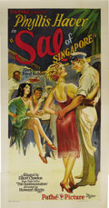 """Movie Posters:Drama, Sal of Singapore (Pathe Exchange Inc., 1928). Three Sheet (41"""" X 81""""). Phyllis Haver plays Sal, a """"working girl"""" who is coax..."""