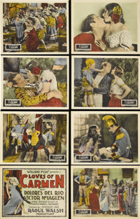 """The Loves of Carmen (Fox, 1927). Lobby Card Set of 8 (11"""" X 14""""). Raoul Walsh directs this silent William Fox..."""