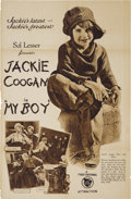 "Movie Posters:Comedy, My Boy (First National, 1921). Exhibitor's Mailer (21.5"" X 33"").After Jackie Coogan's success in Charlie Chaplin's ""The Kid..."