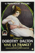 "Movie Posters:Drama, Vive la France! (Paramount, 1918). One Sheet (27"" X 41""). Silentwar drama starring Dorothy Dalton. This one sheet features ..."