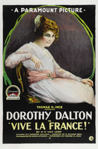 "Vive la France! (Paramount, 1918). One Sheet (27"" X 41""). Silent war drama starring Dorothy Dalton. This one s..."