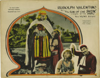 """The Son of the Sheik (United Artists, 1926). Lobby Card (11"""" X 14""""). Rudolph Valentino stars in the title role..."""